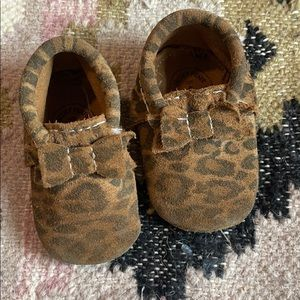 Freshly picked leopard suede moccasins size 2